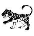 stylized tiger vector image vector image