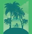 sunrise tropical island vector image vector image