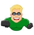 Superhero cartoon posing vector image vector image
