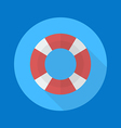 Swimming ring flat icon vector image