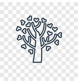 tree with hearts concept linear icon isolated on vector image
