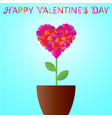 valentines day heart in the form of a flower in vector image vector image