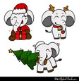 white elephant gift exchange christmas vector image