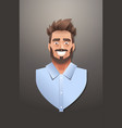 young businessman face avatar smiling business man vector image