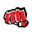 fist stylized symbol revolution concept vector image