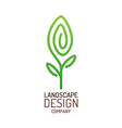 Landscape design logo template Tree with leaves vector image