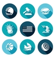United States Icons Set vector image