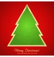 Christmas greeting card with cartoon xmas tree vector image