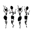 African Beautiful dancers Women vector image