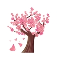 Sakura Tree Isolated Cherry Blossom vector image