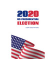 2020 us presidential election banner vector image