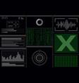 a hacker program with viruses vector image