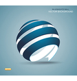 Abstract sphere made from colorful stripes vector image vector image