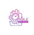 agile software development vector image