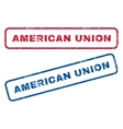 American Union Rubber Stamps vector image vector image