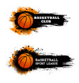 basketball club ball game sport league banners vector image vector image