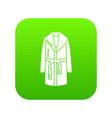 bathrobe icon green vector image vector image