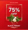 black friday web banner on a red knitted vector image vector image