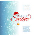 blue blurred winter banner with snow flakes santa vector image vector image
