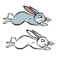 Bunny hopping coloring book