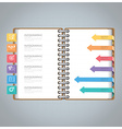 Business Infographic With Ring Notebook Arrow vector image