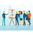 Business meeting project presentation vector image vector image