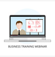 Business Training Webinar Icon Flat Design vector image vector image