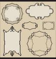 calligraphic floral element page decor vignette vector image vector image
