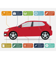 car infographic vector image vector image