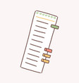 cartoon paper to do list with colorful bookmarks vector image