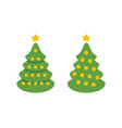 christmas tree symbol holiday vector image vector image