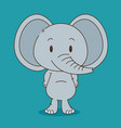 cute and little elephant character vector image vector image