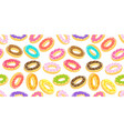 donuts seamless pattern background all kinds vector image