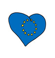 european union heart symbol of a united europe vector image vector image