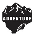 extreme adventure climbing logo black and white vector image