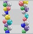 festive balloons realistic semi-transparent vector image