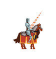 flat icon of knight from the middle ages vector image vector image