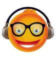 funny yellow monster with round head vector image