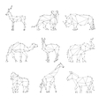 Geometric animals silhouettes vector image vector image
