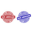 grunge save americans scratched round watermarks vector image vector image
