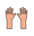 hand up symbol vector image vector image
