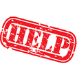 Help stamp vector image vector image