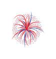 holiday firework splashes or firecracker flat vector image