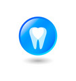 icon love stomatology dentist circle button vector image