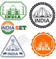 India stamps set vector image vector image