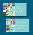 interior design business card vector image vector image