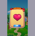 life refil mobile game user interface gui assets vector image vector image