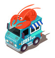 lobster machine icon isometric style vector image vector image
