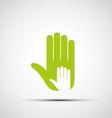 logo adult and children hands vector image vector image