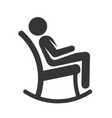 man in rocking chair icon vector image vector image